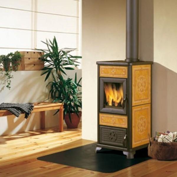Ενεργειακή σόμπα ξύλου αερόθερμη DAFNE 7,2Kw μπέζ EDILKAMIN 434520